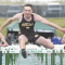 David Peck photo     Rocky Mountain senior Zane Horrocks looks pleased as he clears the final hurdle with ease during the 110-meter high hurdles finals Saturday in Casper. Horrocks won the event decidedly with a time of 16.46 seconds, one of his three individual titles.