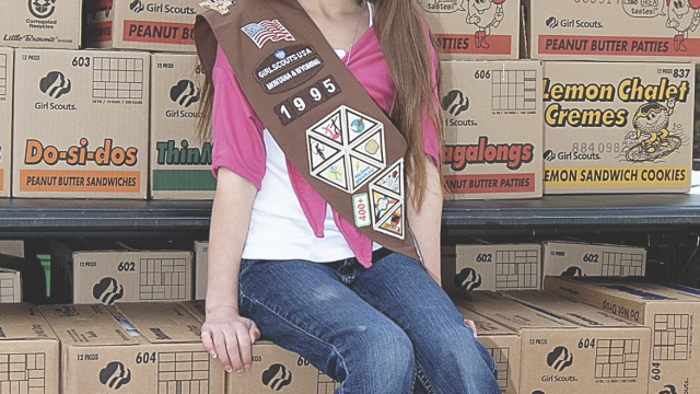 file photo Mandy Lillard of Lovell Girl Scout Troop No. 1995 sold 1,024 boxes of cookies in 2011 during the annual Girl Scout cookie sales. See more in excerpt from 10 years ago.